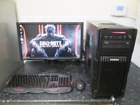"""★Complete High Spec 8-Core Gaming Pc With 24"""" Full HD Monitor★"""