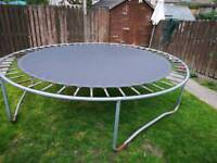 10 FOOT TRAMPOLINE (NEEDS A NEW HOME)