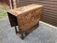 Drop Leaf Wooden Table
