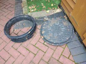 Round Manhole cover and base