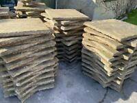 Aged patio slabs over 100 available