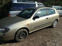 2003 NISSAN ALMERA S (MANUAL PETROL)- FOR PARTS ONLY