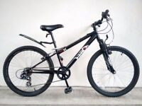 "(2699) 24"" 12"" HOOD V4 BOYS GIRLS CHILD MOUNTAIN HARDTAIL BIKE BICYCLE Age: 8-10, Height: 127-142 cm"