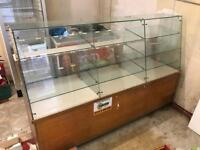 Glass Display Cabinet Vintage Sweet Counter