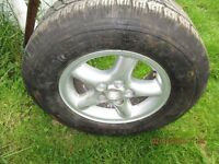 Range Rover mag wheel & tyre