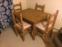 Dining Table and Four Chairs - Wooden