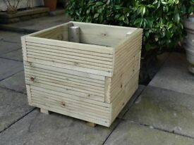 "Garden Planters - individually made from pressure treated Scandinavian decking 18"" square x 15"" high"