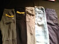 5 boys sweatpants trousers 10-11 years& shorts