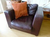 House Of Fraser 3 piece leather suite for sale