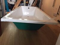 *new* Bath 1800x800mm Cleargreen sustain single ended bath with legs COLLECTION ONLY