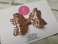 Glitter Hair Bows For Sale