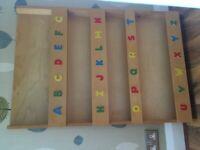 Book display, alphabet bookshelf for children
