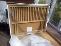 4ft6 Double Bentley Designs Atlantis Headboard BRAND NEW cost £120 in box can deliver free locally