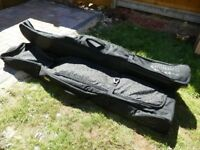 2 x large padded snowboard bags with wheels