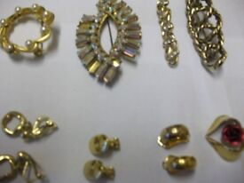CLIP ON EARINGS, BROACHES, NEW, UNWORN, ONLY £8,