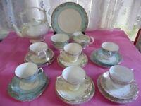 Vintage Mix/Match 22 Piece Tea Set with Teapot