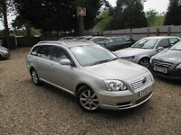 TOYOTA AVENSIS ESTATE 1.8 PETROL MANUAL FULL SERVICE WARRANTED MILES HPI CLEAR MOT WITH NO ADVISORYS