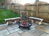 Rustic Douglas Fir Log Bench