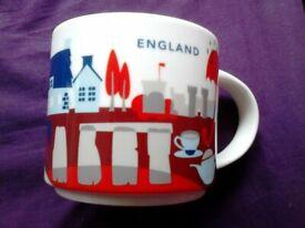 Collectible Starbucks You Are Here Mug ENGLAND - 2018 14 Fluid OZ