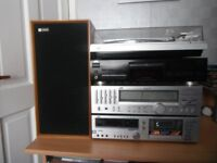 JVC stereo system, cd, radio, tape deck, amplifier, graphic equilizer, record deck