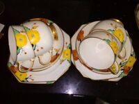 Paragon retro 12 piece tea set