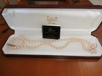 lotus deluxe necklace 7mm uniform simulated pearls