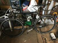 Vintage Raleigh racing bike with upgrades