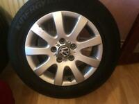 Vw golf alloys wheel