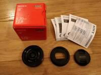 Sony E 20mm F2.8 lens (SEL20F28)