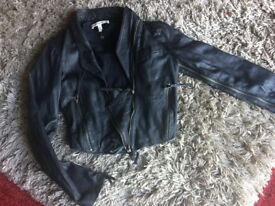 twenty8twelve Black Leather Jacket / Size 12 / by (Sienna Millar)