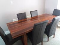 Sheesham wood dining table & chairs