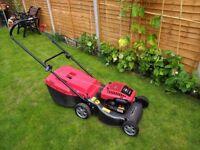 Mountfield easy start hand propelled petrol lawn mower, large 45cm cut