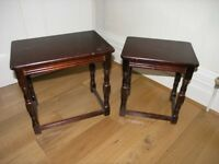 Pair of Dark Wood Coffee Tables Ideal Shabby Chic Weymouth