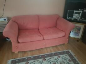 Red Sofa Set - 1 Two seater and 1 Three Seater