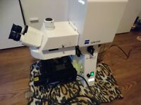 Carl Zeiss Axioplan 2 imaging microscope with LSM 510 Laser module
