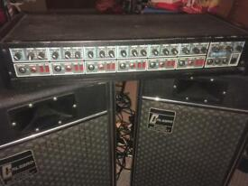 Band Gig 150w PA system Amp and Speakers