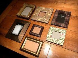 Selection of ornate vintage floral gilt scuplted photo picture frames