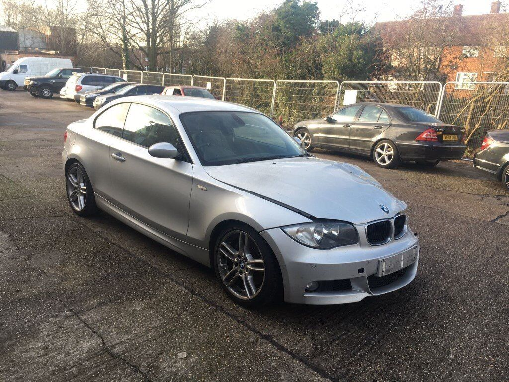2008 bmw 123d m sport 2 0 twin turbo e82 coupe silver damaged salvage repairable in. Black Bedroom Furniture Sets. Home Design Ideas
