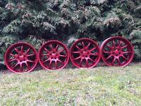 Brock B6 deep dish alloy wheels, 5x100, VW golf MK4, Audi A3 Toyota
