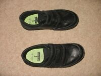 Boys black clarks school shoes.