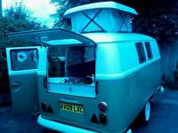 Retro touring two-berth touring caravan