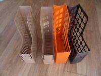 4 x magazine holders / files A4 size FREE - Pokesdown BH5 2AB