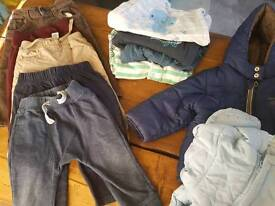 Great lot of 9 to 12 months boy clothes