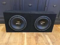 """2 x 10"""" Vibe Pulse BS3 series subwoofers"""