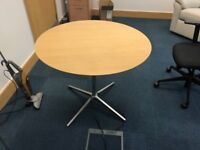 Round Office table. Approximate diameter 1 metre