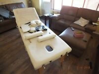 PORTABLE MASSAGE TABLE AND ACCESSORIES