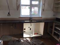 Granite worktop and sink