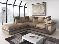 1 YEAR WARRANTY | DINO JUMBO CORD CORNER + FOOTSTOOL OR 3+2 SEATER SOFA | UK EXPRESS DELIVERY
