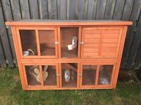 Rabbit hutch with accessories