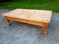 Antique Farmhouse Pine Coffee Table